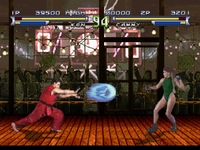 une photo d'�cran de Street Fighter - The Movie (Playstation) sur Sony Playstation